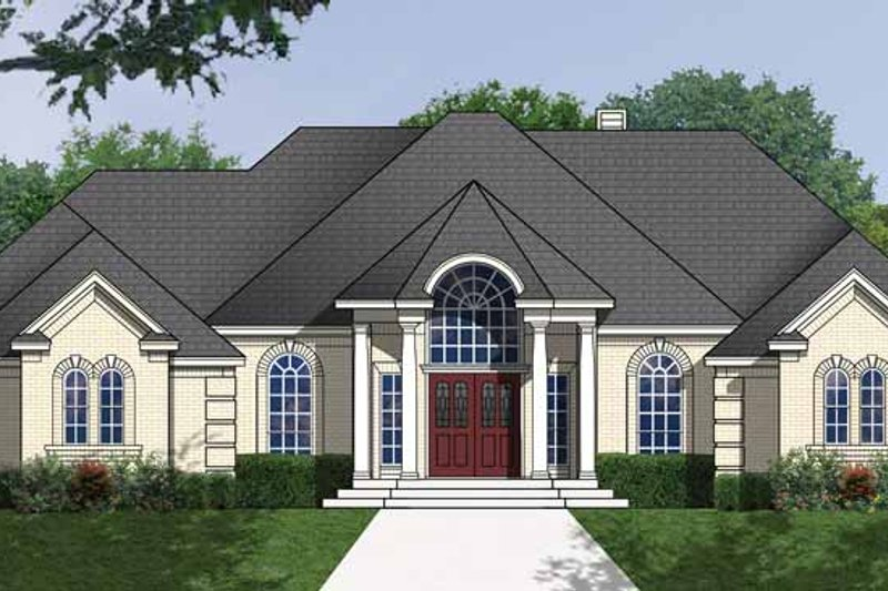 Traditional Exterior - Front Elevation Plan #40-474 - Houseplans.com