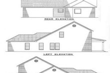 House Design - Traditional Exterior - Rear Elevation Plan #17-264