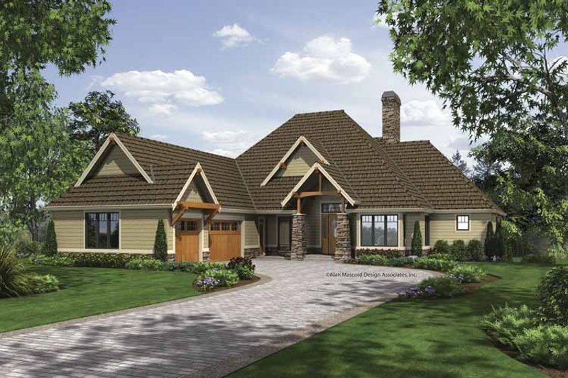 Craftsman Exterior - Front Elevation Plan #48-864