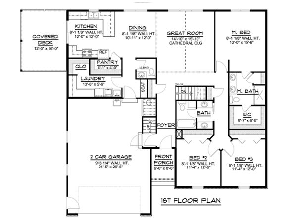 Cottage Floor Plan - Main Floor Plan #1064-35