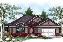 Architectural House Design - Ranch Exterior - Front Elevation Plan #70-926