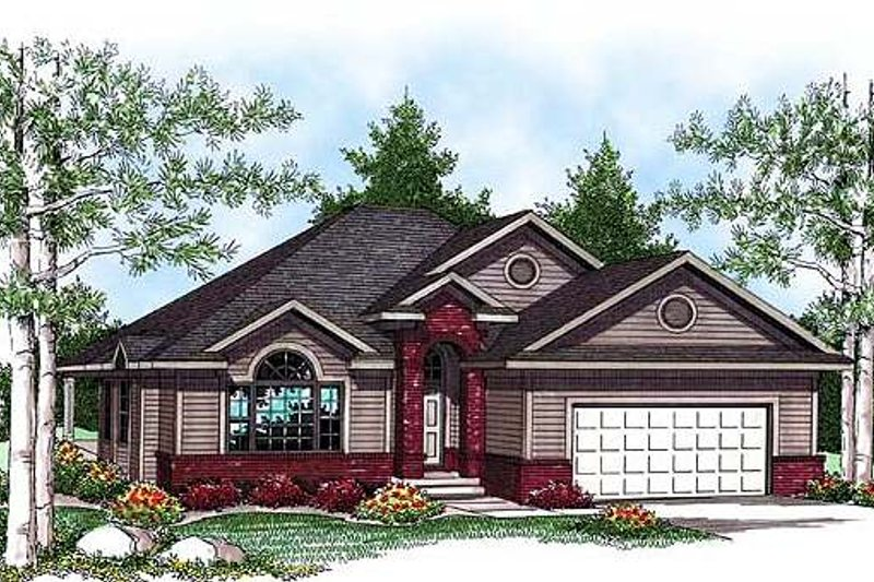 Ranch Exterior - Front Elevation Plan #70-926