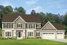 Home Plan - Colonial Exterior - Front Elevation Plan #1010-164