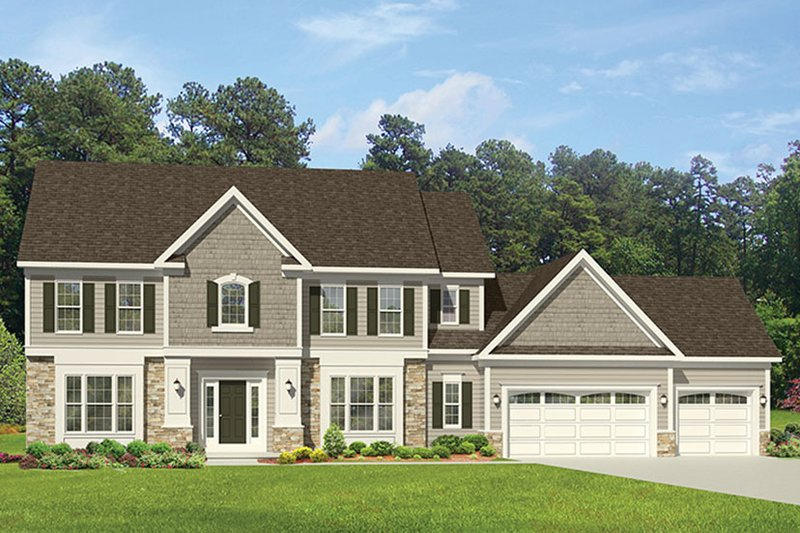 Architectural House Design - Colonial Exterior - Front Elevation Plan #1010-164