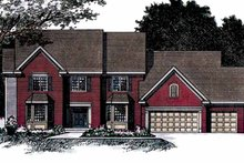 Colonial Exterior - Front Elevation Plan #51-956