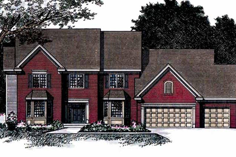 Colonial Exterior - Front Elevation Plan #51-956 - Houseplans.com