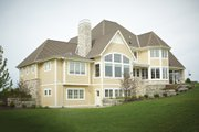 European Style House Plan - 4 Beds 3.5 Baths 5977 Sq/Ft Plan #928-8 Exterior - Rear Elevation