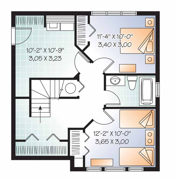European Floor Plan - Lower Floor Plan Plan #23-2490