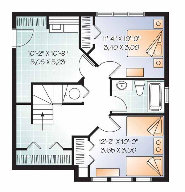 European Floor Plan - Lower Floor Plan Plan #23-2490