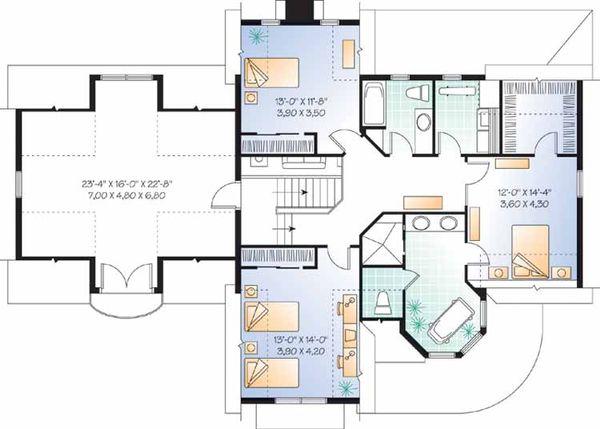 Home Plan - Victorian Floor Plan - Upper Floor Plan #23-2345