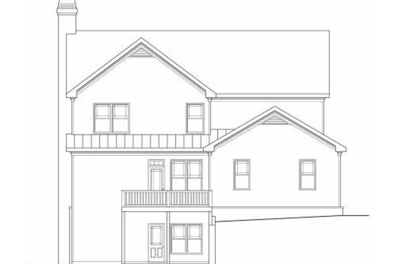 Craftsman Exterior - Rear Elevation Plan #419-162 - Houseplans.com