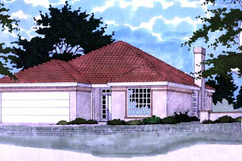 Home Plan - Exterior - Front Elevation Plan #472-67