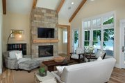 Craftsman Style House Plan - 4 Beds 5.5 Baths 5269 Sq/Ft Plan #928-259 Interior - Family Room