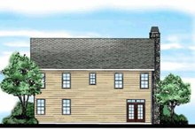 Country Exterior - Rear Elevation Plan #927-163