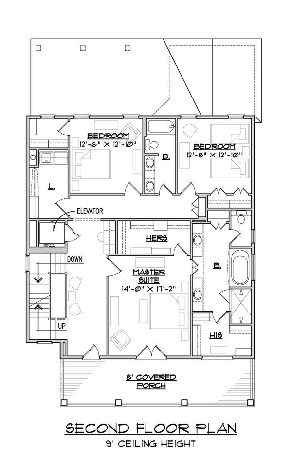 House Plan Design - Craftsman Floor Plan - Upper Floor Plan #1054-33