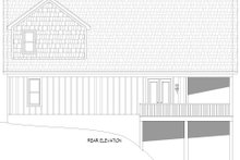 House Plan Design - Country Exterior - Rear Elevation Plan #932-334