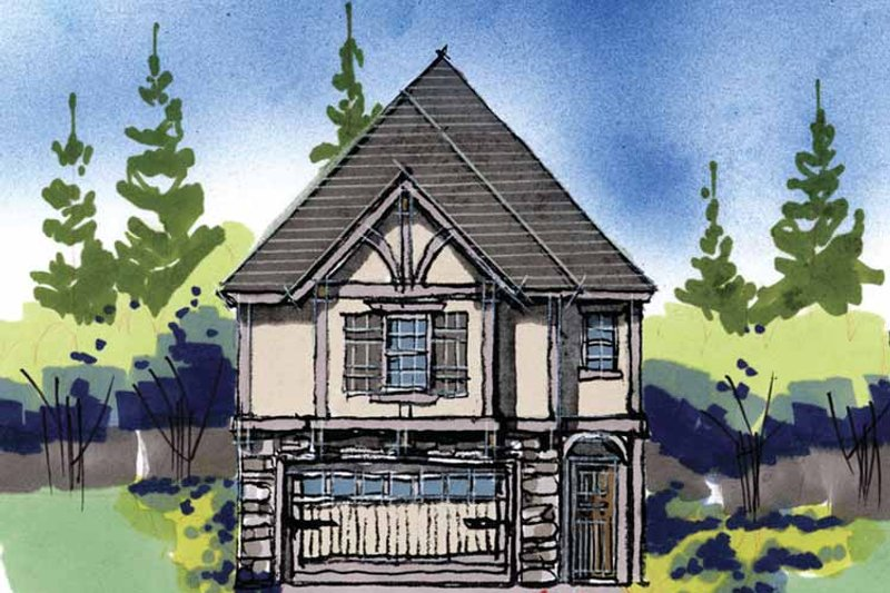 Traditional Exterior - Front Elevation Plan #509-250 - Houseplans.com