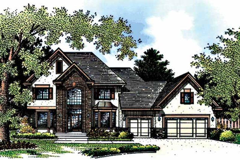 Country Exterior - Front Elevation Plan #51-900