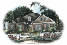 House Plan Design - Colonial Exterior - Front Elevation Plan #429-246