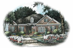 Colonial Exterior - Front Elevation Plan #429-246