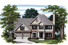Colonial Exterior - Front Elevation Plan #927-166