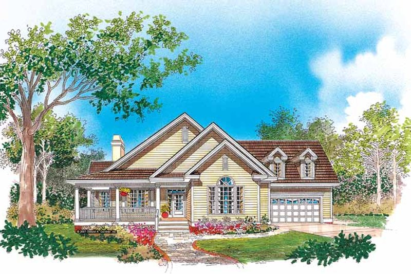 Country Exterior - Front Elevation Plan #929-623 - Houseplans.com