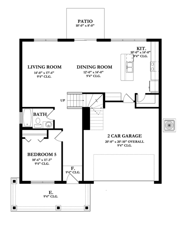 Mediterranean Floor Plan - Main Floor Plan Plan #1058-64