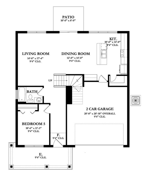 Mediterranean Floor Plan - Main Floor Plan #1058-64