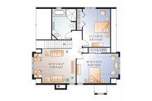 European Floor Plan - Upper Floor Plan Plan #23-2513