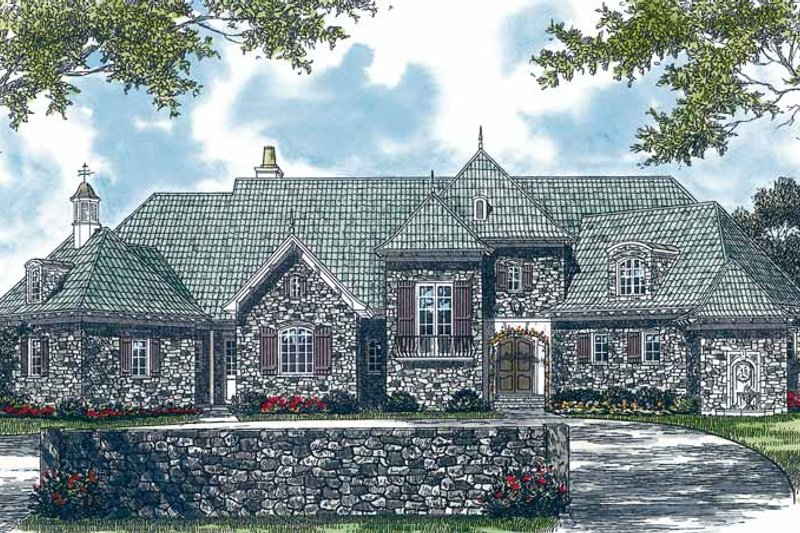 Country Exterior - Front Elevation Plan #453-369 - Houseplans.com