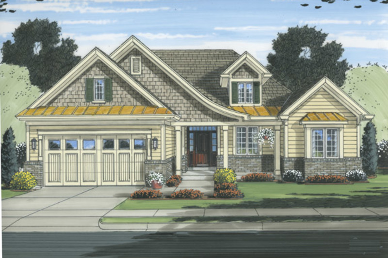 Traditional Exterior - Front Elevation Plan #46-832 - Houseplans.com