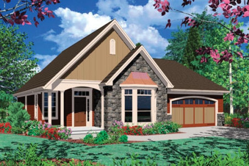 Dream House Plan - Farmhouse Exterior - Front Elevation Plan #48-274