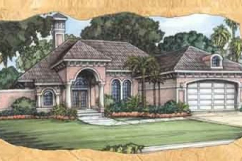 European Style House Plan - 3 Beds 2 Baths 2040 Sq/Ft Plan #115-112 Exterior - Front Elevation