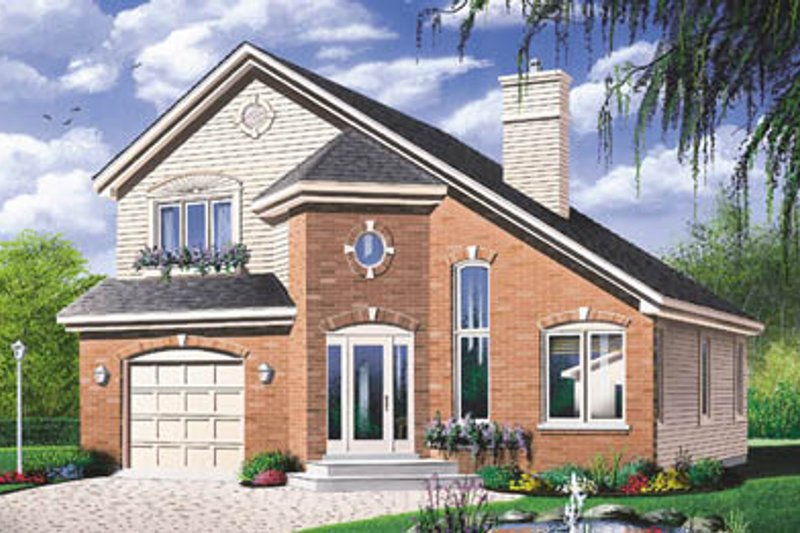 House Plan Design - Traditional Exterior - Front Elevation Plan #23-2097