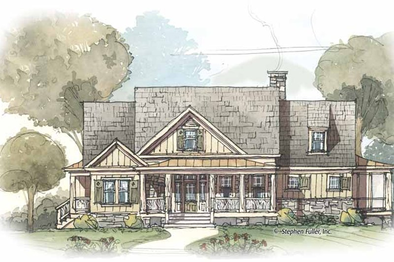 Country Exterior - Front Elevation Plan #429-424