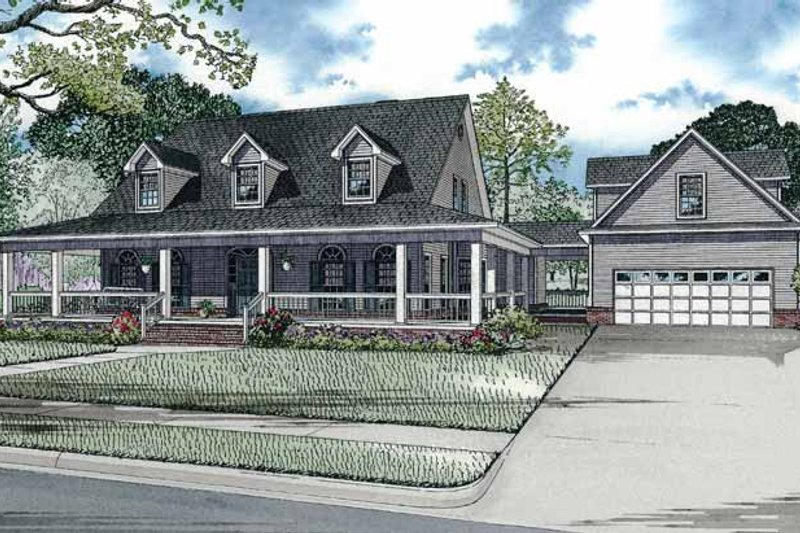Dream House Plan - Colonial Exterior - Front Elevation Plan #17-2933