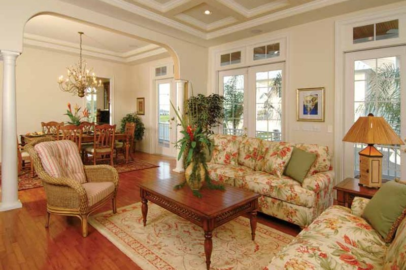 Country Interior - Family Room Plan #930-140 - Houseplans.com