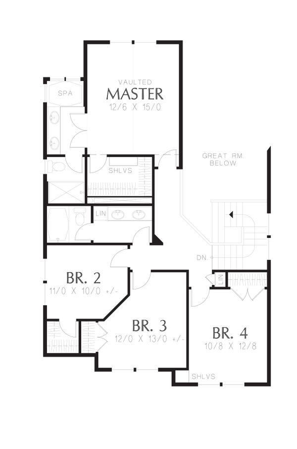 Country Floor Plan - Upper Floor Plan Plan #48-630