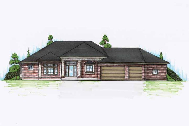 European Exterior - Front Elevation Plan #945-121
