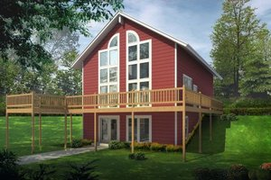 Modern Exterior - Front Elevation Plan #100-457