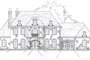 European Style House Plan - 5 Beds 6.5 Baths 4934 Sq/Ft Plan #141-277 Exterior - Front Elevation