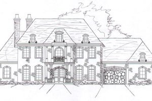 European Exterior - Front Elevation Plan #141-277