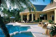 Mediterranean Style House Plan - 3 Beds 4.5 Baths 4534 Sq/Ft Plan #930-312 Exterior - Rear Elevation