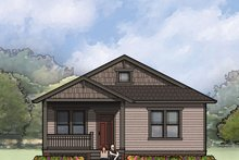 Craftsman Exterior - Front Elevation Plan #936-25