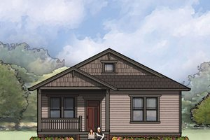 Architectural House Design - Craftsman Exterior - Front Elevation Plan #936-25
