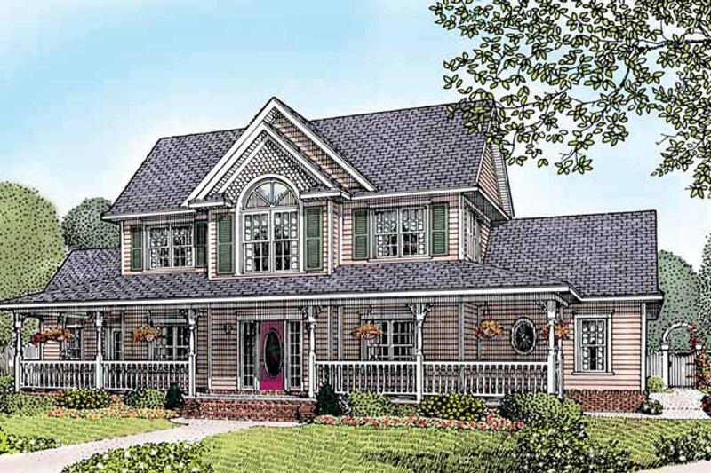 House Plan Design - Victorian Exterior - Front Elevation Plan #11-255
