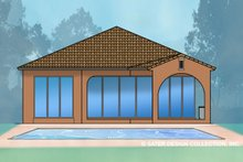 Mediterranean Exterior - Rear Elevation Plan #930-488