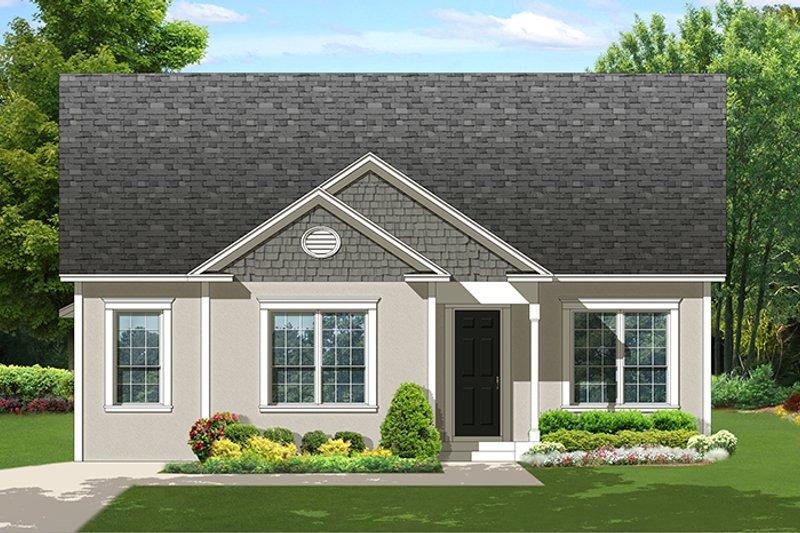 Ranch Exterior - Front Elevation Plan #1058-138 - Houseplans.com