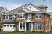 Architectural House Design - Craftsman Exterior - Front Elevation Plan #132-433