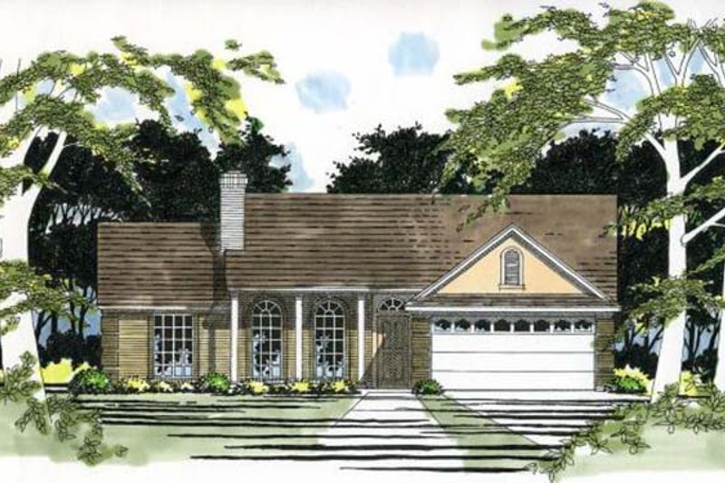 Home Plan - Ranch Exterior - Front Elevation Plan #472-125